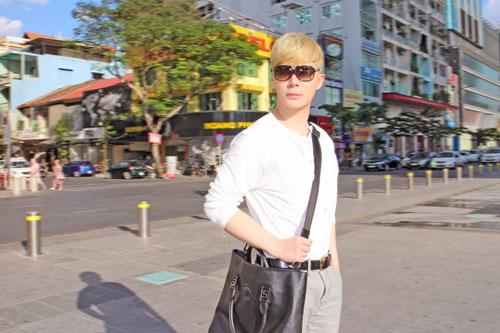"""nathan lee xuong pho voi dien mao moi """"gay sot"""" - 8"""