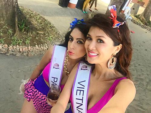 oanh yen lot top 5 bikini cuoc thi pancontinental international 2015 - 2