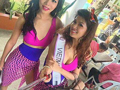 oanh yen lot top 5 bikini cuoc thi pancontinental international 2015 - 3
