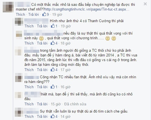 nghi van thi sinh top 3 masterchef vn la dau bep chuyen nghiep? - 2