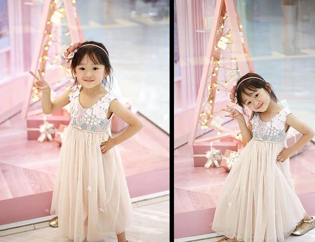 Hiện cô bé đang học lớp chồi tại trường Quốc tế Việt Úc, thành phố Hồ Chí Minh.