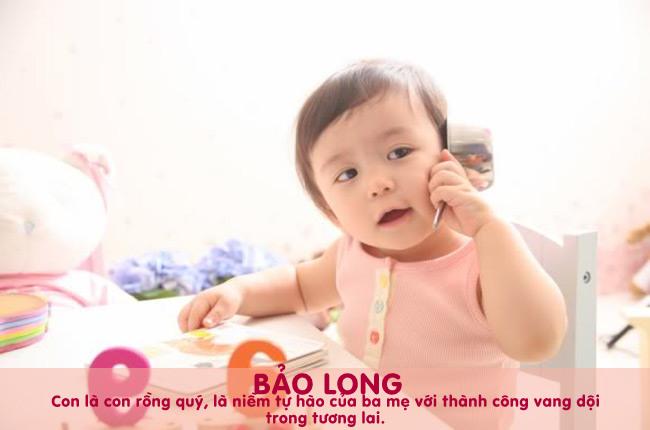 Tên Long còn có thể kết hợp được với rất nhiều từ khác để tạo thành tên đẹp cho con trai như Minh Long, Hải Long, Bảo Long, Quốc Long, Thiên Long,...