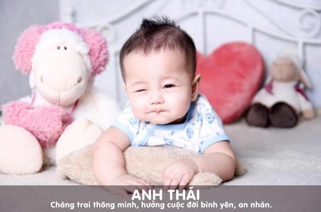 Cái tên Anh Thái sẽ mang lại cho bé nhiều ý nghĩa tốt lành, yên bình.