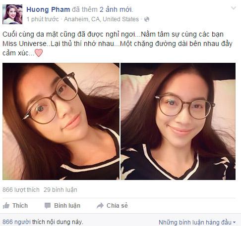 pham huong tu tin khoe mat moc sau hoa hau hoan vu 2015 - 1