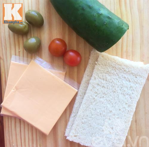 2 mon banh sandwich hinh cay thong noel cho be - 1
