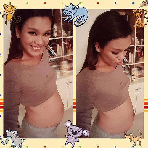 phuong vy idol ven ao khoe bung bau dang yeu - 1