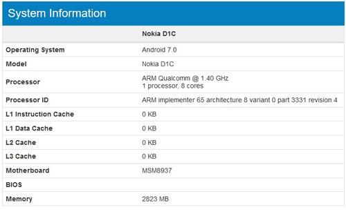 Điện thoại Nokia D1C chạy Android 7.0, giá mềm-3