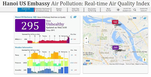 Không có chuyện Hà Nội đang ô nhiễm không khí nhất nhì thế giới-1