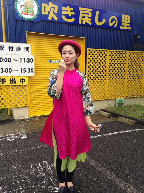Lan Phương trồng rau, nhảy múa cùng người dân Nhật Bản-1