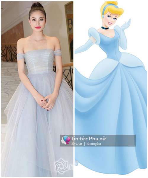 """""""Yêu hết nấc"""" khi sao Việt hóa thành công chúa Disney - 1"""