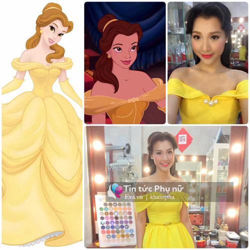 """""""Yêu hết nấc"""" khi sao Việt hóa thành công chúa Disney - 3"""