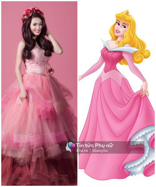"""""""Yêu hết nấc"""" khi sao Việt hóa thành công chúa Disney - 8"""