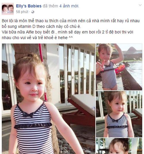 Lâu lắm Elly Trần mới khoe ảnh Cadie, nhiều người ngỡ ngàng vì cô bé đã quá lớn-1