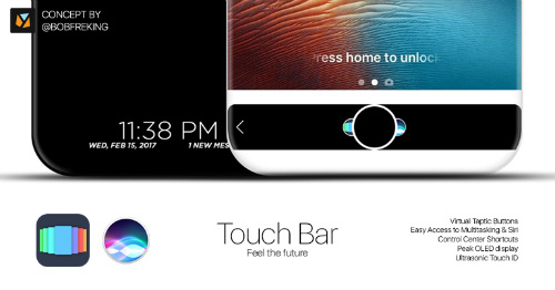 mau iphone thu 10 se co vo gom ceramic, touch bar - 2