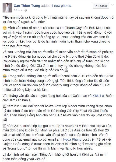 xuan lan va thi sinh cu to cao vietnam's next top model thieu minh bach - 5