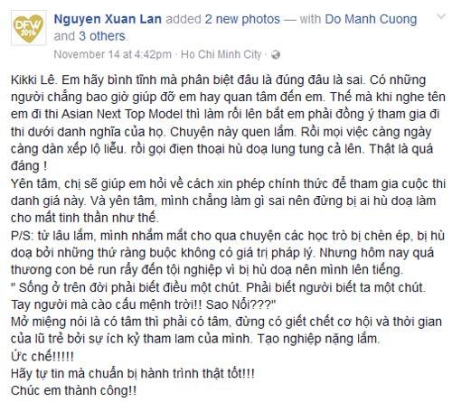 xuan lan va thi sinh cu to cao vietnam's next top model thieu minh bach - 2