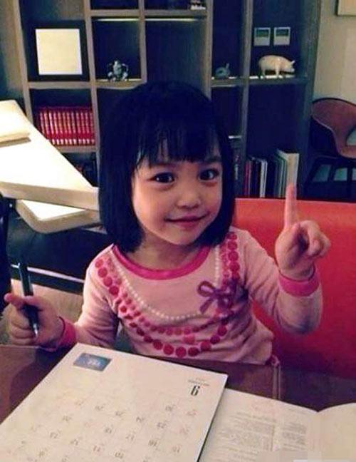 Lâm Tâm Như còn đang bầu, con gái Triệu Vy đã sắp thành đại mỹ nhân giống mẹ-4