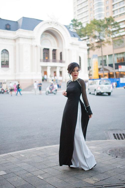 valencia tran len duong tham gia mrs vietnam aodai tai my - 2