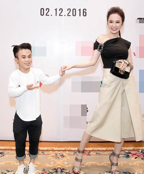 Angela Phương Trinh được Bằng Kiều ôm eo thân mật trong sự kiện-9