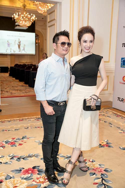 Angela Phương Trinh được Bằng Kiều ôm eo thân mật trong sự kiện-4