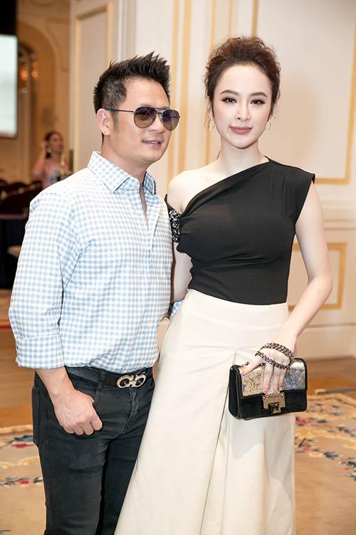 Angela Phương Trinh được Bằng Kiều ôm eo thân mật trong sự kiện-5