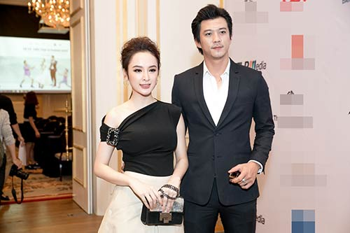 Angela Phương Trinh được Bằng Kiều ôm eo thân mật trong sự kiện-11