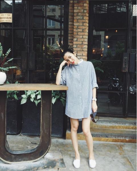 Chiếc áo 999 ngàn che bụng bầu cực đỉnh của Tăng Thanh Hà - 9