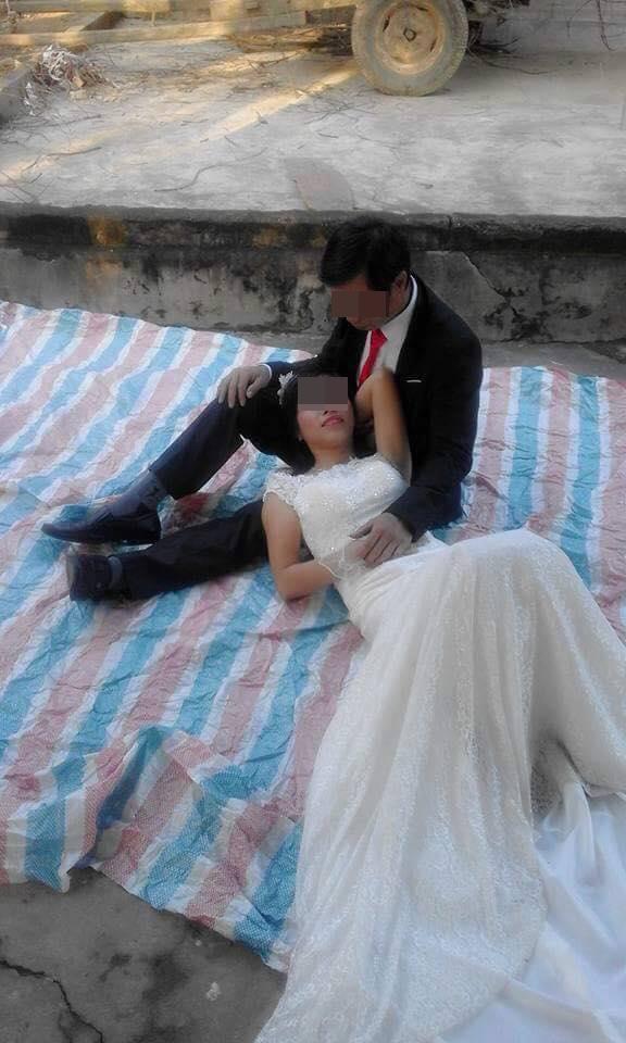 """trai bat chup anh cuoi, doi vo chong duoc dan mang """"cuu nguy"""" bang photoshop - 1"""