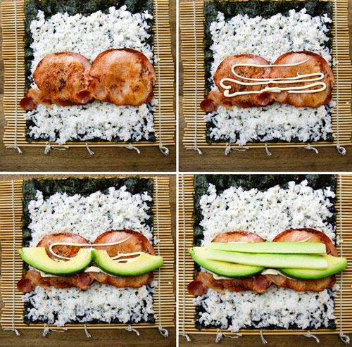 lam sushi cuon qua bo tuoi ngon, la mieng voi vai buoc don gian - 3