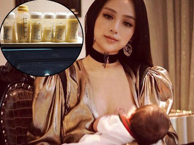 Tưởng chỉ khoe ảnh cho con bú sống ảo,  ai ngờ Huyền Baby nhiều sữa đến bác sĩ còn choáng
