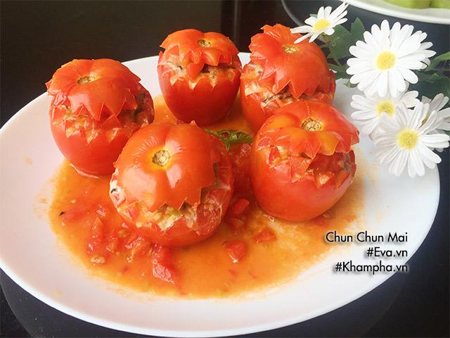 Cuối tuần đãi cả nhà cà chua nhồi thịt hấp