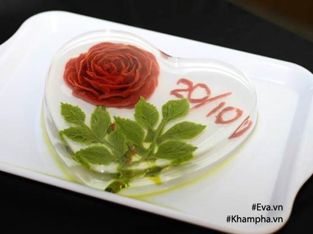 Thánh tỉa thạch rau câu 3D dạy làm hoa hồng tặng mẹ ngày 20/10 chỉ bằng kim tiêm