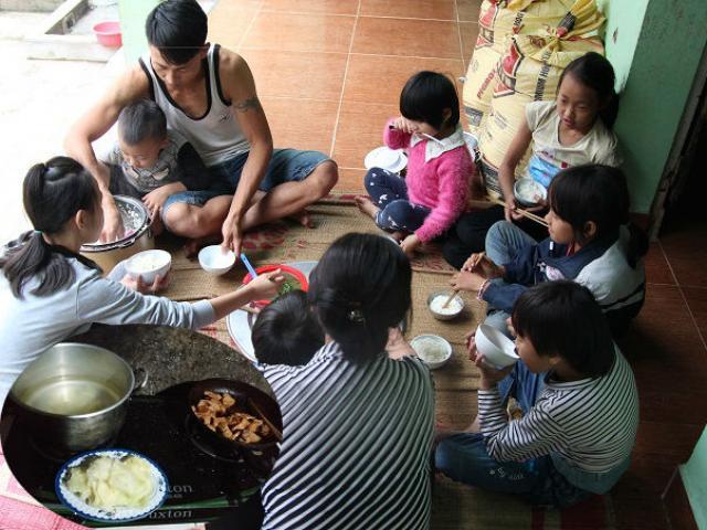 Cảnh sinh hoạt trong gia đình người mẹ 29 tuổi, sinh 8 con ở Hà Nội