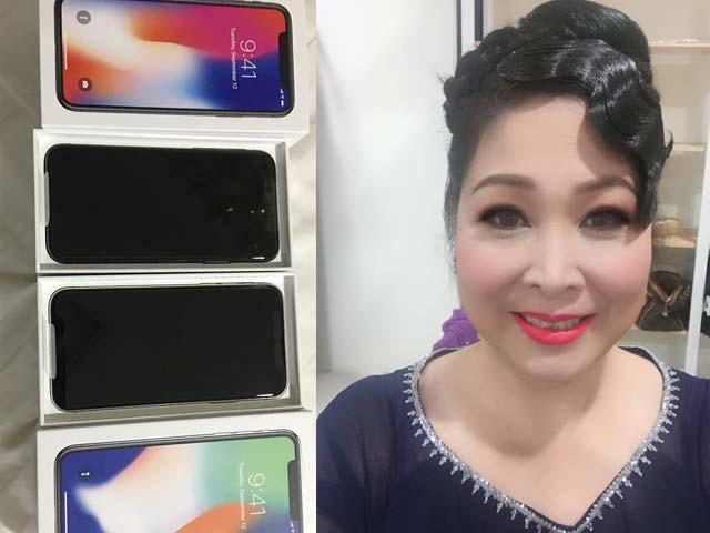 Sao Việt 24h: NSND Hồng Vân sung sướng khi được chồng yêu tặng iPhone X