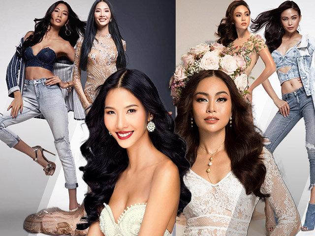 Hoàng Thùy và Mâu Thủy chính là hai người đẹp số nhọ nhất Hoa hậu Hoàn vũ Việt Nam