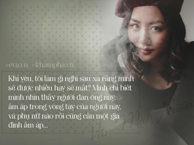 Sau chia tay, đây là những câu nói cực chuẩn của Văn Mai Hương về tình yêu