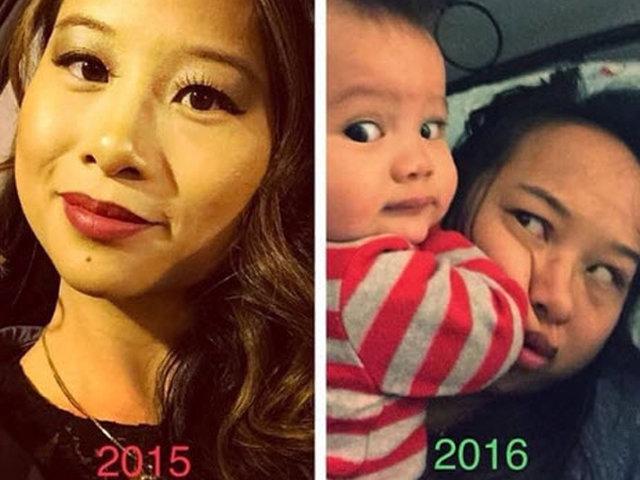 11 bức ảnh lột tả sự khác nhau một trời một vực trước và sau khi làm mẹ