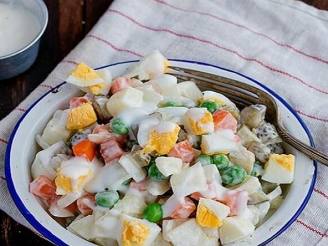 Salad Nga - mang cả ẩm thực xứ Bạch Dương về nhà