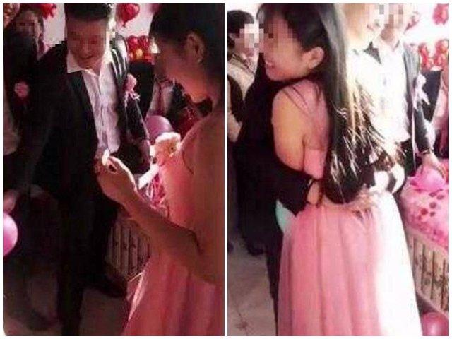 Chú rể ôm chặt phù dâu trong ngày cưới khiến cô dâu khóc nấc đòi hủy hôn