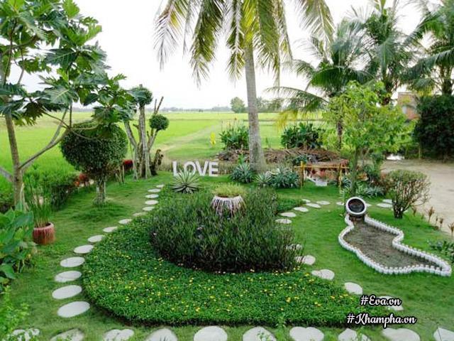 2 tháng tự tay làm hết, 9X Tây Ninh biến mảnh đất trống thành khu vườn đẹp như công viên