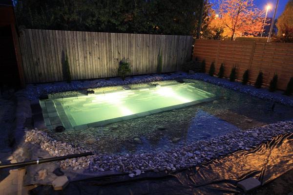 Tự xây bể bơi thiên nhiên tuyệt đẹp, ba bố con khiến hàng xóm amp;#34;phát ghenamp;#34; - 13
