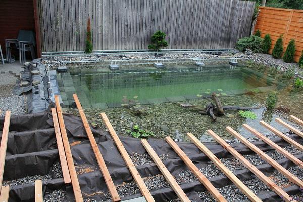 Tự xây bể bơi thiên nhiên tuyệt đẹp, ba bố con khiến hàng xóm amp;#34;phát ghenamp;#34; - 16