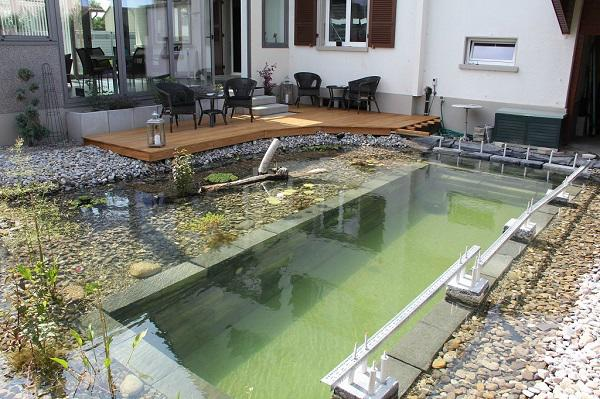 Tự xây bể bơi thiên nhiên tuyệt đẹp, ba bố con khiến hàng xóm amp;#34;phát ghenamp;#34; - 17