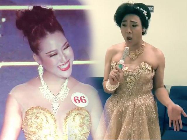 Cười lăn lộn khi Trấn Thành tái hiện phần thi ứng xử của Phi Thanh Vân đi thi Hoa hậu