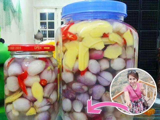 Mẹ Hà Nội chia sẻ cách làm hành muối chua ngọt giòn ngon, không bị màng đón Tết