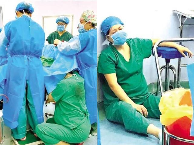 Bầu 7 tháng, y tá ngồi xổm 30 phút phẫu thuật cứu sản phụ khác khiến dân mạng xót xa