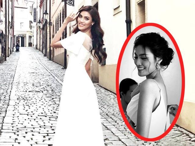 Hé lộ hình ảnh Lan Khuê thử váy cưới, chuẩn bị 3 ngày nữa lên xe hoa