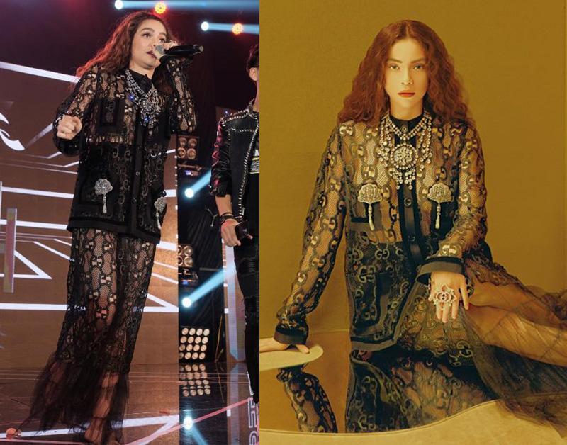 Set đồ Gucci trăm triệu đồng từng lọt top thảm hoạ thời trang, được Hồ Ngọc Hà mang lên tạp chí. Bất ngờ thay với công nghệ hình ảnh hiện nay, thiết kế bỗng trở nên sang chảnh và thời thượng hơn.