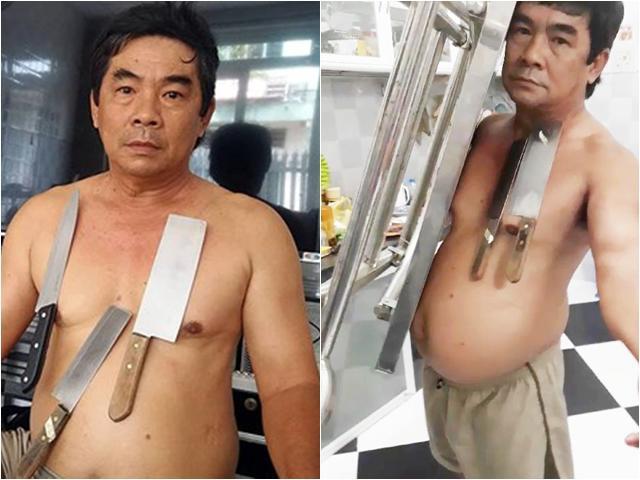 Sốc độc lạ: Người đàn ông có khả năng hút bàn inox nặng 20 kg