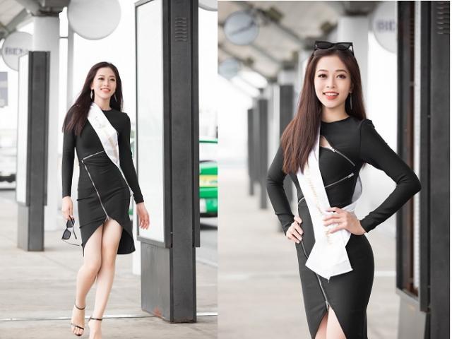 Á hậu Phương Nga khoe trình catwalk đỉnh cao ở sân bay trước Miss Grand International 2018